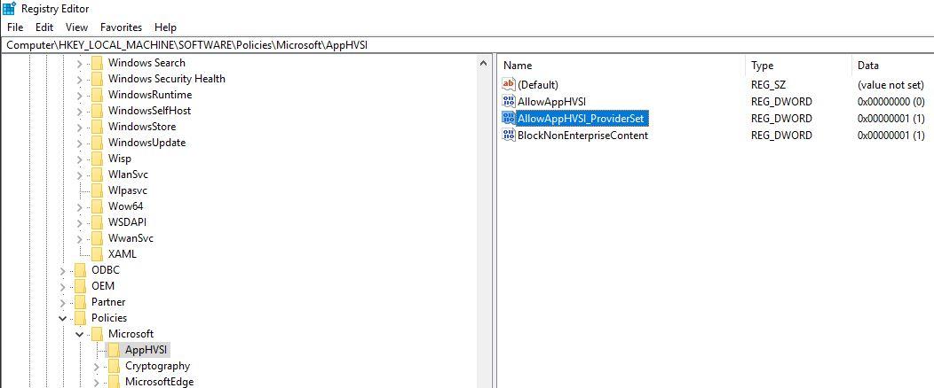 Windows 10 - Configure Windows Defender Application Guard